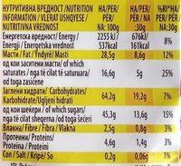 Choco stobi flips - Nutrition facts
