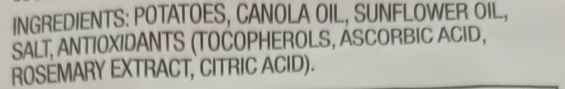 Thinly Cut Original - Ingredients - en