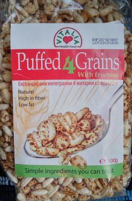Puffed4Grains sa fruktozom - Производ - sr