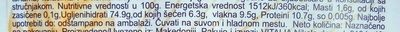 Puffed4Grains sa fruktozom - Nutrition facts - sr