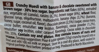 Muesli sa bananom i čokoladom - Ingredients - en