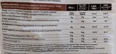 Muesli sa bananom i čokoladom - Nutrition facts - en