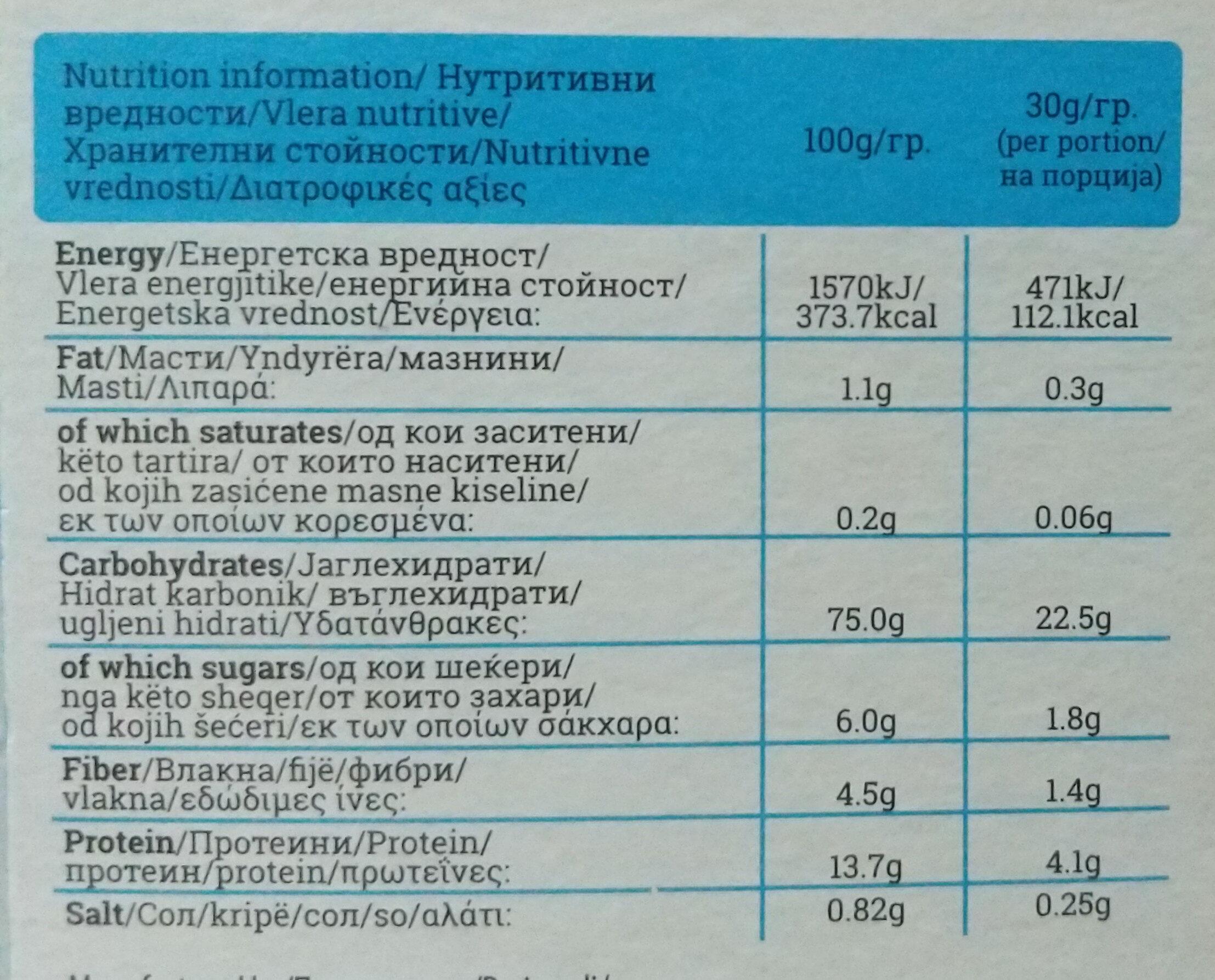 Vegan drink with pea protein - Voedingswaarden - en