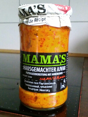 Mama's: Ajvar Mild Roasted Red Pepper Spread - 290G - Product - de