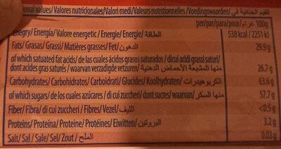 Choc tablet - Informations nutritionnelles - fr