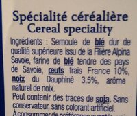 Les Crozets aux noix du Dauphiné - Ingrédients