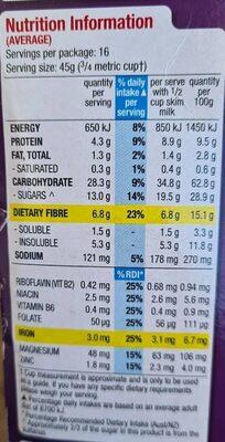 Kellogg's Sulatana Bran - Voedingswaarden - en