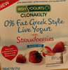 0% Fat Greek Style Live Yogurt with Strawberries - Produit