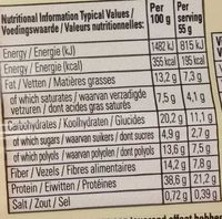 White Chocolate & Cookie Dough Vitamin & Protein Bar - Nutrition facts - fr