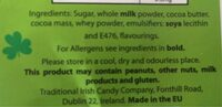 Chocolat au lait - Ingredients