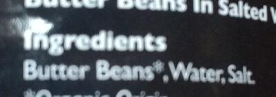 Organic Butter Beans - Ingredients - en