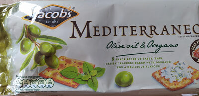 Jacob's mediterraneo bread crackers olive oil and oregano - Product - en