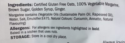 Just oats flapjacks - Ingrediënten - fr