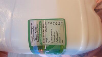 Semi skimmed milk - Ingredienti - en