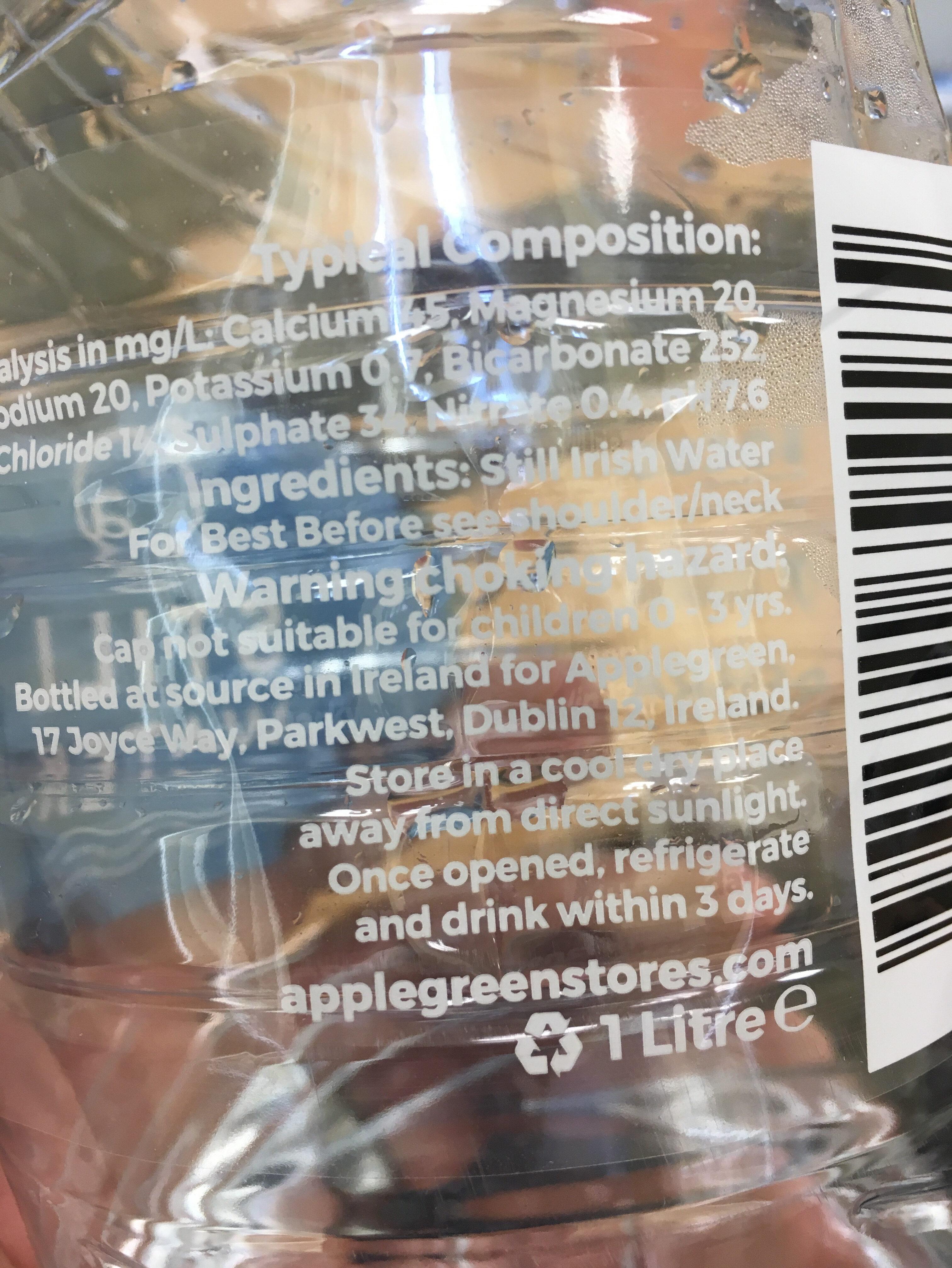 Applegreen water - Ingredients - en