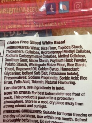 Gluten free Soft white bread - Ingredienti - en
