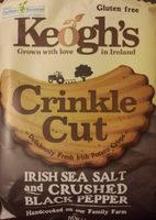 Crinkle Cut - Irish Sea Salt and Crushed Black Pepper Crisps - Product