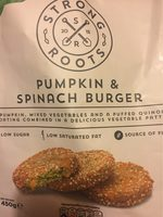 Pumpkin and spinach burger - Produit - en