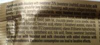 Hazelnut Whip Vitamin & Protein Bar - Ingredients - fr