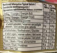 Hazelnut Whip Vitamin & Protein Bar - Nutrition facts - fr