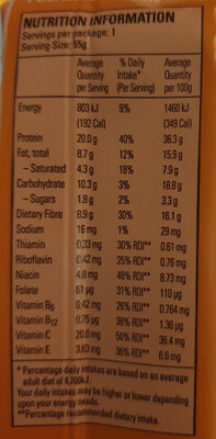 Peanut & Caramel Flavour Vitamin & Protein Bar - Nutrition facts - en