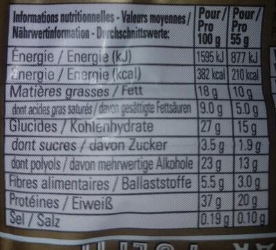 Fulfil chocolate hazelnut - Informazioni nutrizionali - fr