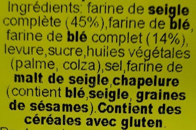 Crispbreads - Inhaltsstoffe - fr