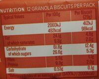 Cookies granola crunchy with nuts & seeds - Nutrition facts - en