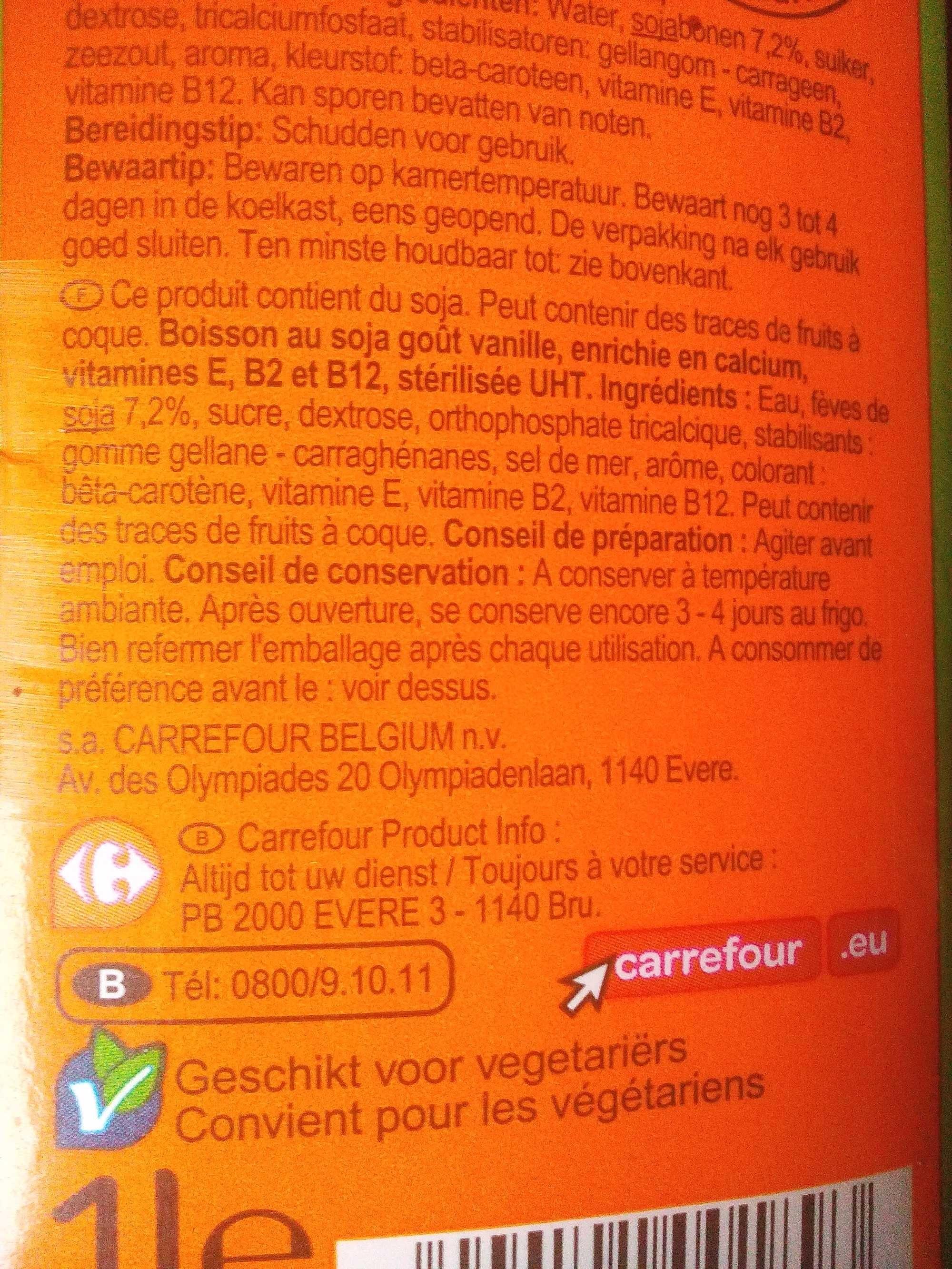 Sojadrink vanille - Produit