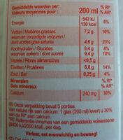 Lait Entier - Voedingswaarden - nl