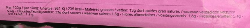 Mini-loempia au poulet et sauce aigre-douce - Nutrition facts