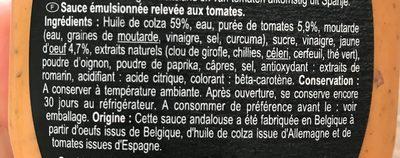 Sauce andalouse - Ingrédients - fr