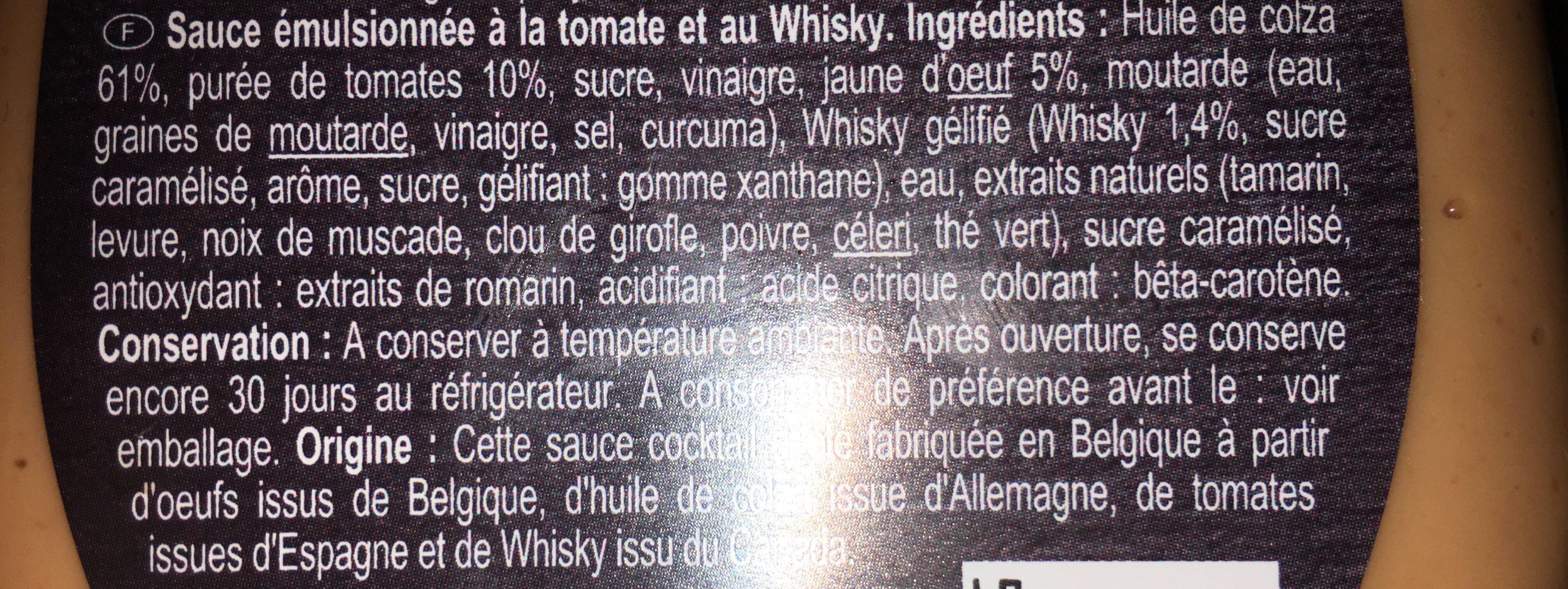 Sauce coktail - Ingrediënten - fr