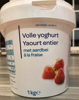 Yaourt entier à la fraise - Product