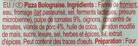Pizza bolognaise - Ingrediënten