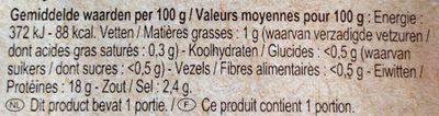 Crevettes - Voedingswaarden - nl