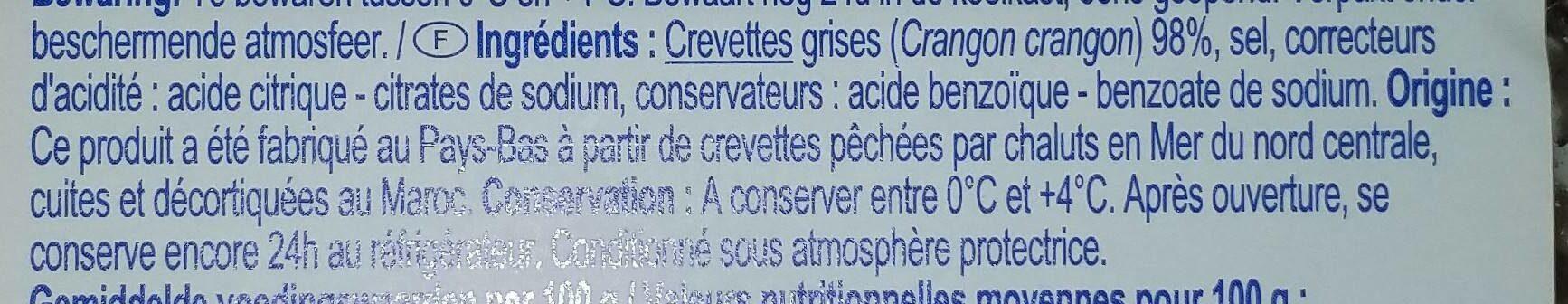crevettes grises décortiquées - Ingrediënten - fr