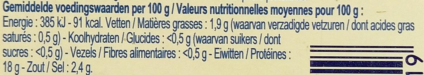 crevettes grises décortiquées - Voedingswaarden - fr
