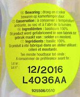 Basilic - Ingrediënten - fr