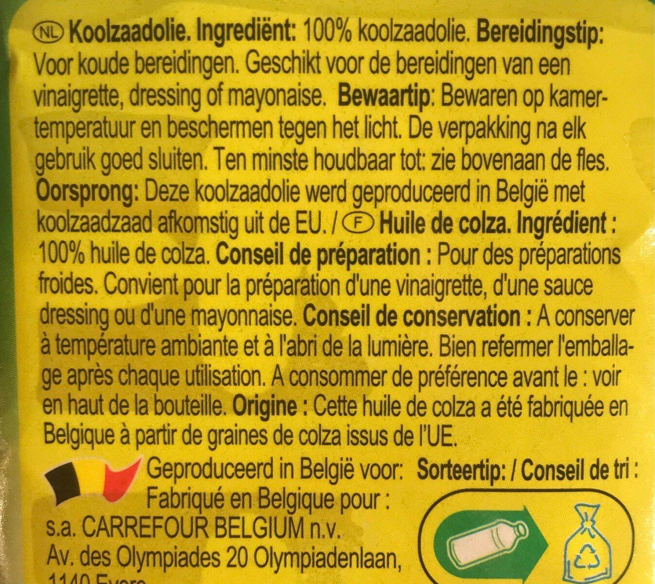 Huile de colza - Ingrediënten - fr