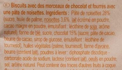 Cookies fourrés - Ingrédients