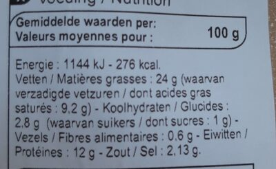 Strasbourg - Informations nutritionnelles - fr