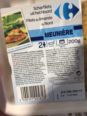Filet de limande - Ingredients