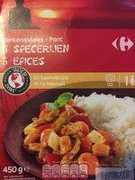 Porc 5 epices et riz basmati - Product - fr