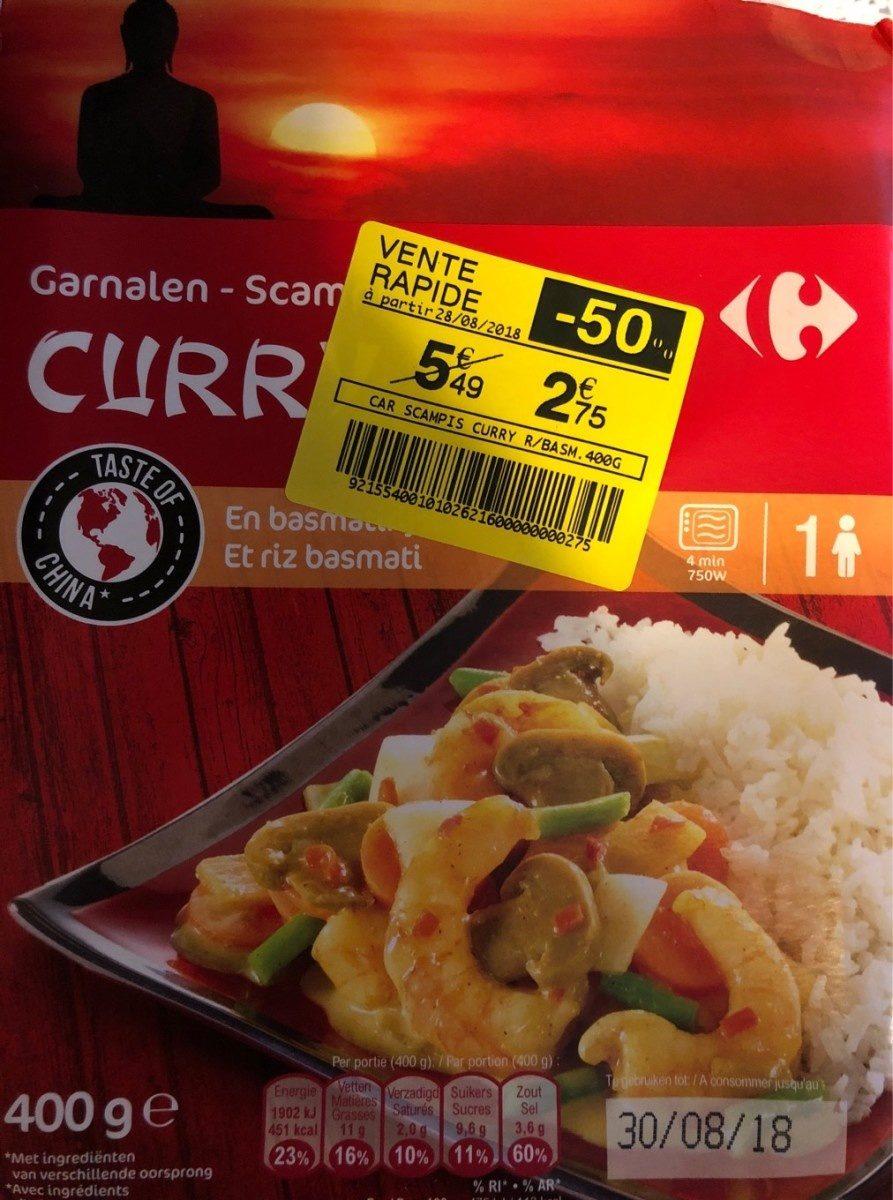 Scampi Curry et Riz Basmati - Produit - fr