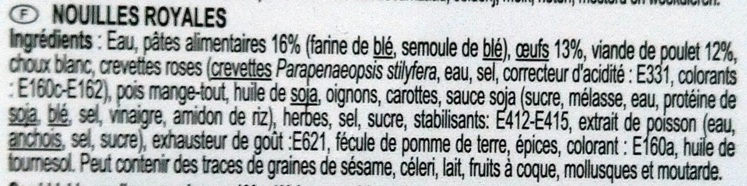 Nouilles royales - Ingrediënten - fr