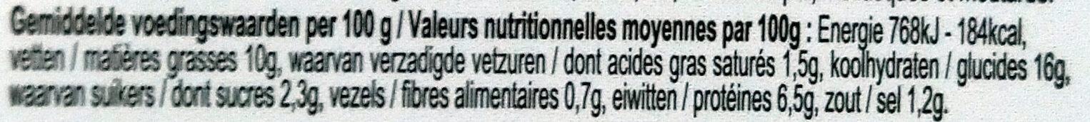 Nouilles royales - Voedingswaarden - fr