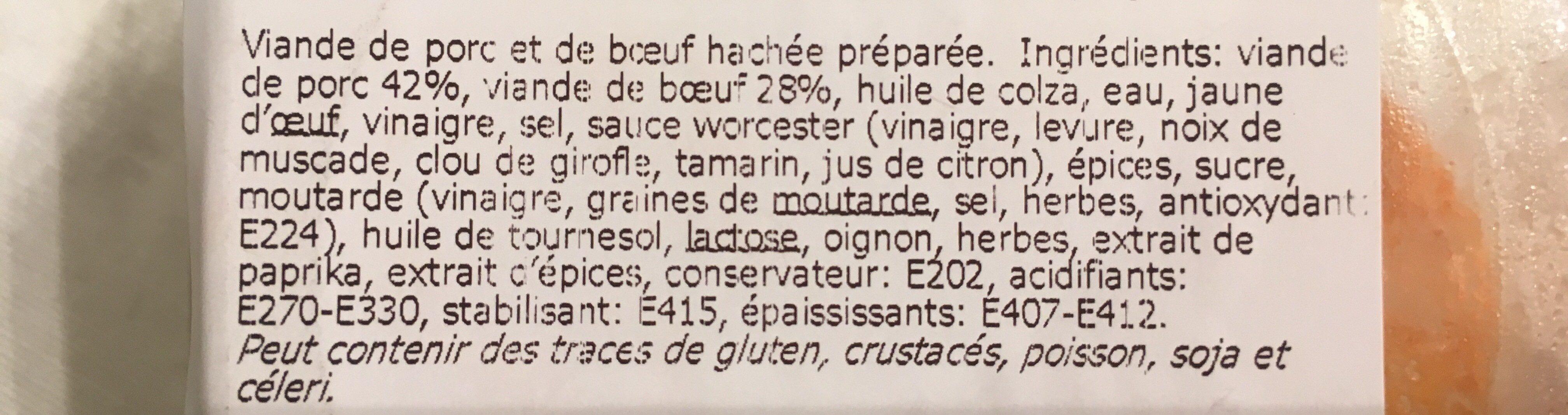 Filet Américain Préparé du Chef - Ingrédients - fr