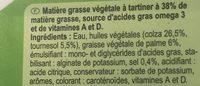 Beurre Omega3 - Ingrédients - fr