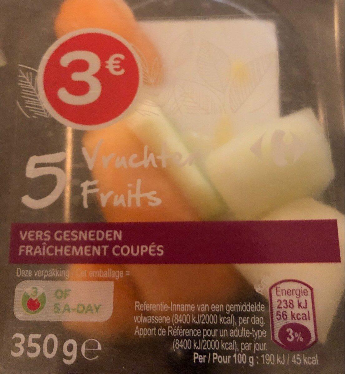 5 fruits fraîchement coupés - Produit - fr